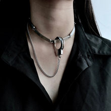 Punk Handboeien Kettingen Ketting Fashion Casual Rock Silver Unisex Choker(China)