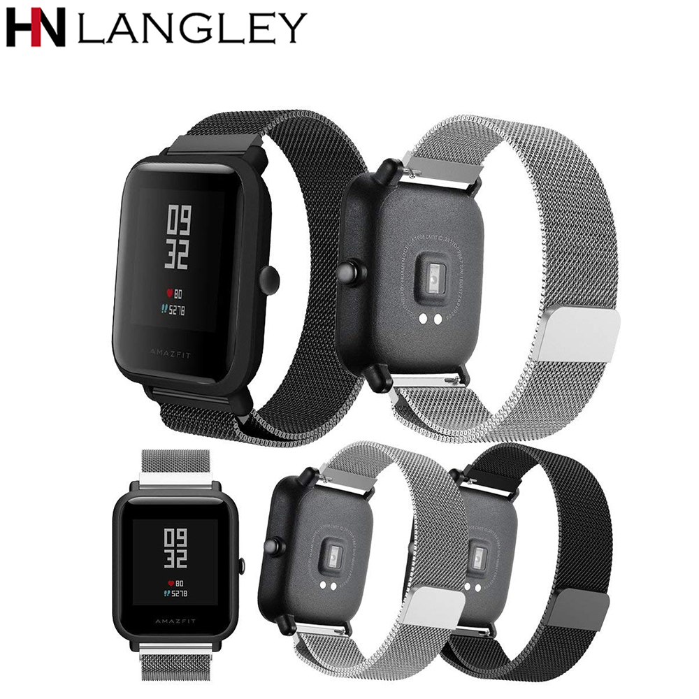 20mm For Huami Amazfit Bip Straps Milanese Loop Bands Replacement Strap Bracelet For Huami Amazfit Bip BIT PACE Lite Youth watch