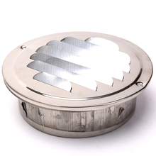 1pc Stainless steel Exterior wall air outlet vent grille 70-200mm round duct cap