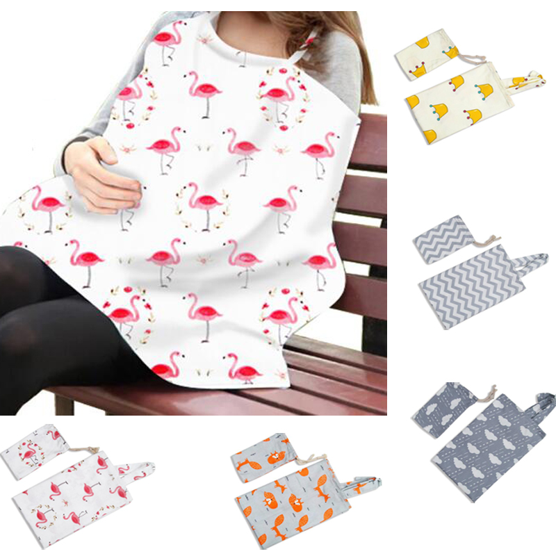 Cotton Breastfeeding Cover Feeding Baby Nursing Apron Women Mum Shawl Clothes Cotton Blanket Cloth Mommy Apron
