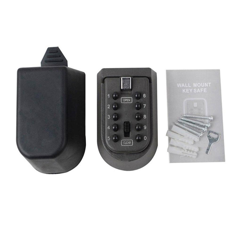 Iron Wall Hanging Key Code Lock Key Box Thickening Metal Piece LESHP 15cm X 10cm X 8cm (5.91in X 3.94in X 3.15in)