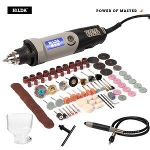 Image 2 - הילדה משתנה מהירות רוטרי כלי חשמלי כלים 400W מיני תרגיל 6 עמדה עבור Dremel רוטרי כלים מיני מכונת גריסה