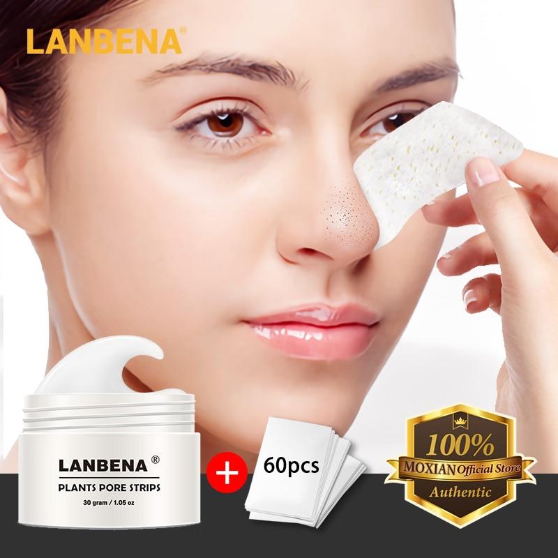 Nuevo LANBENA Unisex eliminador de espinillas de la nariz máscara facial banda para poros máscara negra exfoliación de acné tratamiento negro limpieza profunda de la piel cuidado