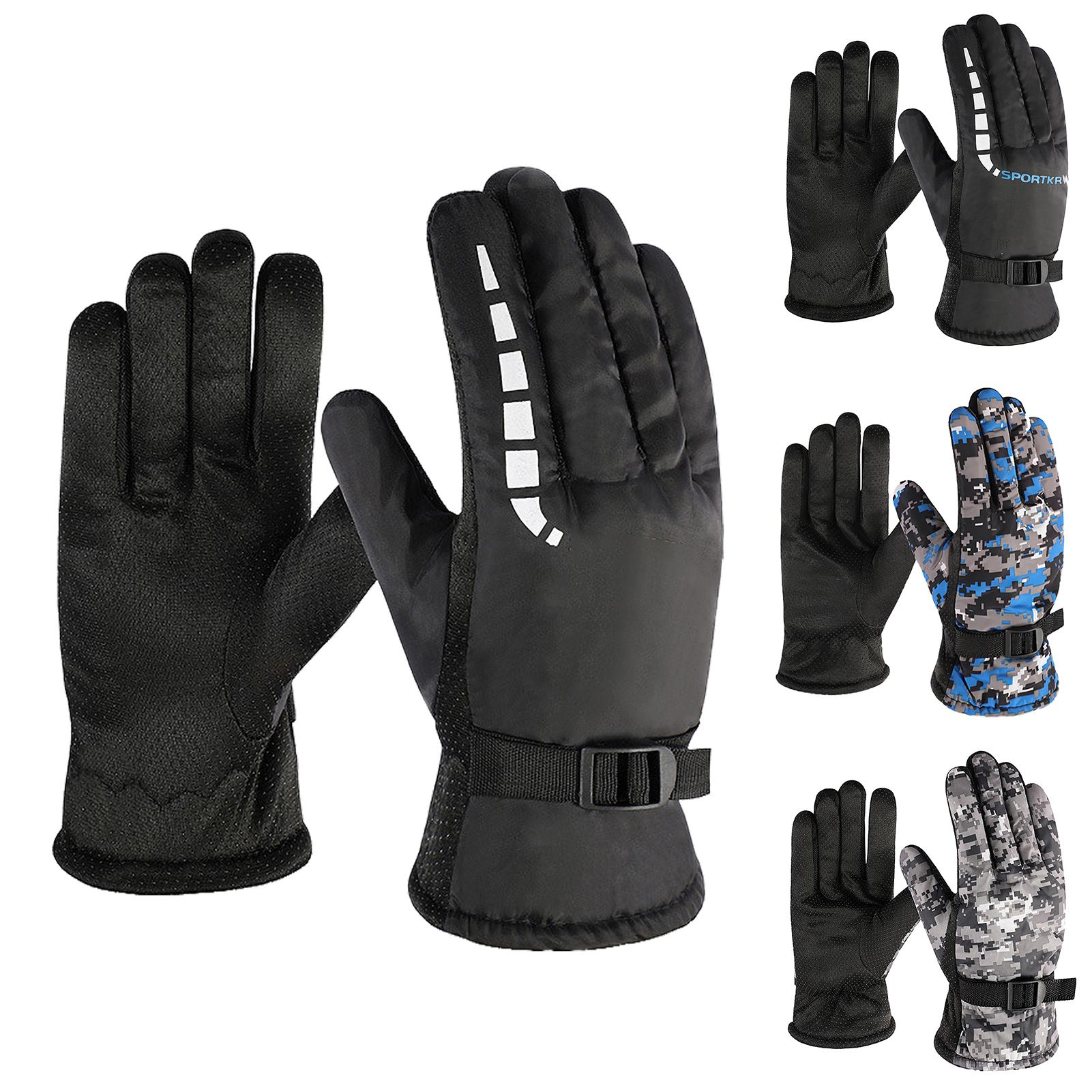 The Best Ski Gloves Thermal Waterproof Skiing Snowboard Gloves Snow Motorcycle Windproof -30 Degree Riding Hiking Winter Gloves