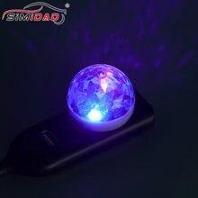 1 adet Mini çok renkli USB LED araç İç aydınlatma atmosfer ışığı Neon renkli lambaları taşınabilir aksesuarları
