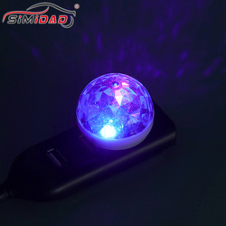 1PC Mini Multi Color USB LED Car Interior Lighting Atmosphere Light Neon Colorful Lamps Portable Accessories