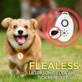 Outdoor USB Flealess ultradźwiękowy odstraszacz pcheł wyciszenie zaopatrzenie dla zwierząt domowych przenośne zaopatrzenie dla zwierząt domowych tanie i dobre opinie CN (pochodzenie) Ultrasonic Pest Repellers Ticks Mute