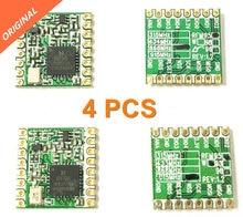 무료 배송 4 pcs rfm95 rfm95w 868 915 RFM95 868MHz RFM95 915MHz lora sx1276 무선 트랜시버 모듈 fcc rohs etsi reach