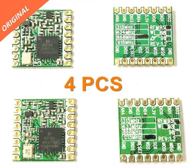 จัดส่งฟรี 4PCS RFM95 RFM95W 868 915 RFM95 868MHz RFM95 915MHz LORA SX1276 โมดูลไร้สาย FCC ROHS ETSI REACH