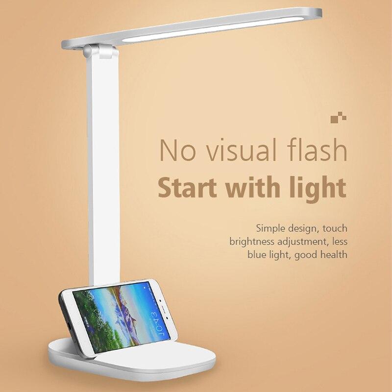 LED Table Lamp Foldable USB Powered 3 Dimming Desk Lamp LED Eye Protection Reading Light Student Study Working Desk Light