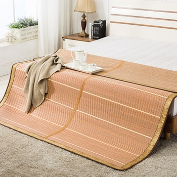 1.8m bed folding 1.5 meters grass mat dormitory students single 1.2m Cold and comfortable 100% natural Bamboo mattress
