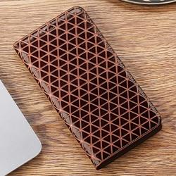 На Алиэкспресс купить чехол для смартфона grid lines genuine leather flip case for xiaomi mi max mix note 2 3 2s pocophone poco f1 f2 pro cell phone cover cases