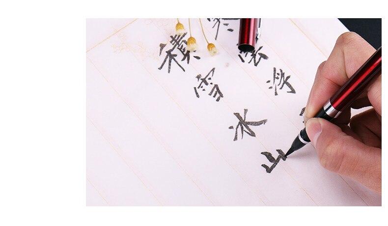 Tinta china caligrafia chinesa caneta tipo doninha