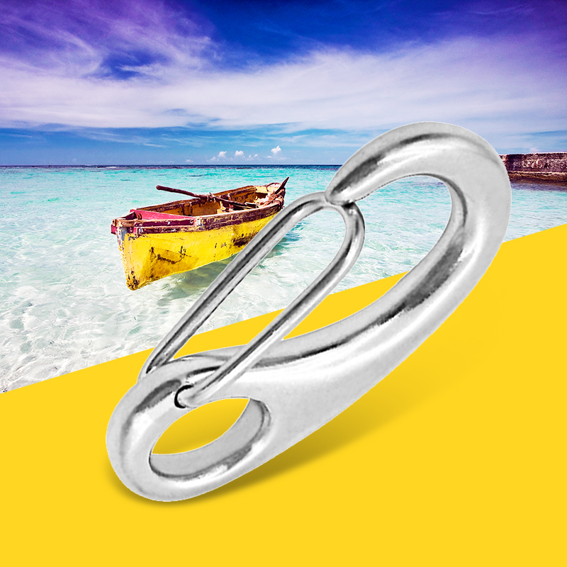 20pcs Marine 316 Stainless Steel Spring Snap Hooks Boat Anchor Rigging Clip