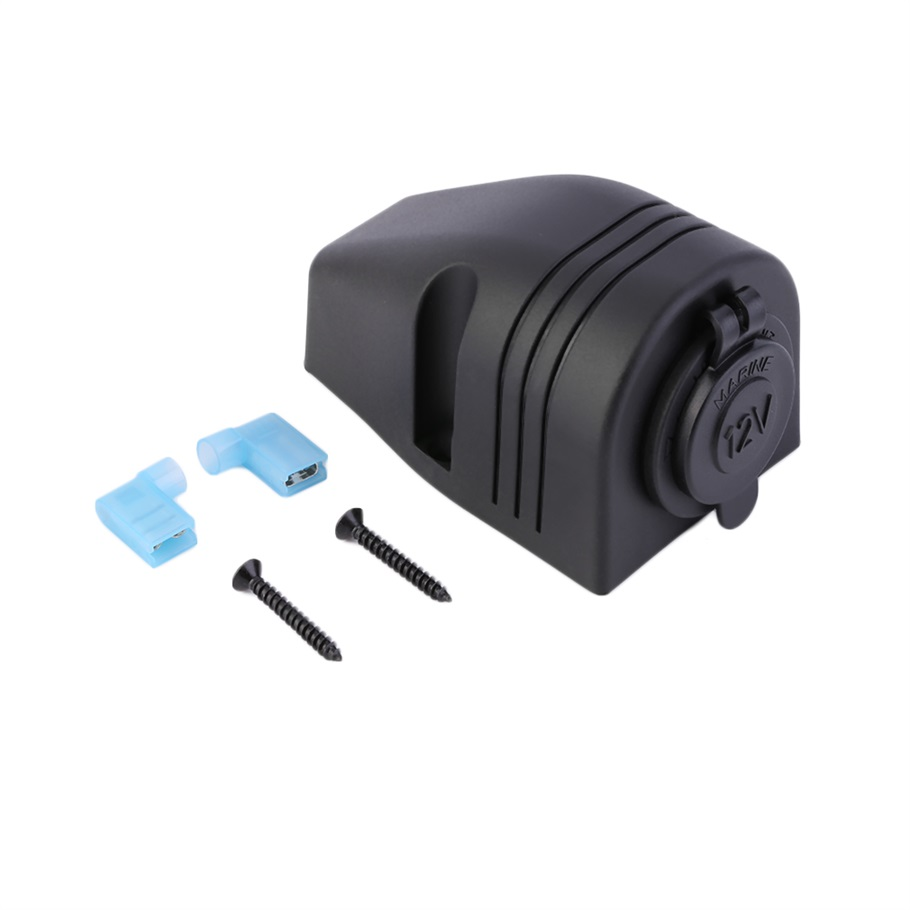 Car Styling <font><b>Motorcycle</b></font> Modification <font><b>Waterproof</b></font> <font><b>12V</b></font> Car Cigarette Lighter <font><b>Socket</b></font> Charger Power Adapter For Car Truck Boat Auto image