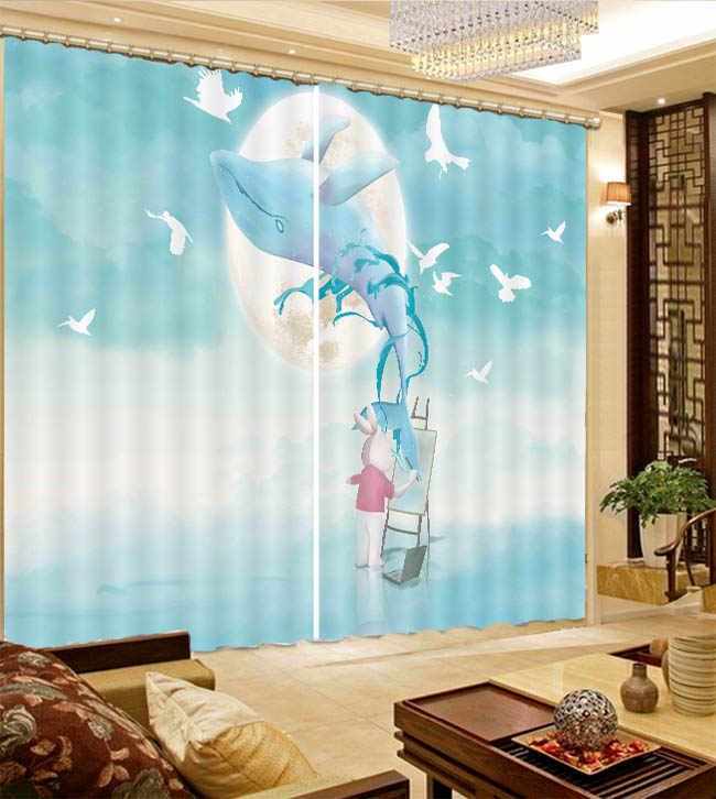 2019 wysoko cieniowane zasłona zaciemniająca kreatywny abstrakcyjnym zwierzęciem salon sypialnia nowoczesne zasłony okienne wysokiej jakości kurtyna