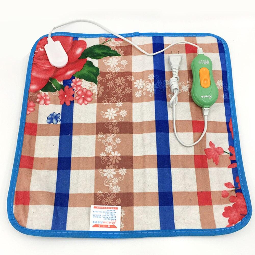 40cm 18W Dog Electric Heated Pad Mat Carpet 12V Animal Pet Warm Plush Bed Blanket Heater Carpet Heating Pad Color Random