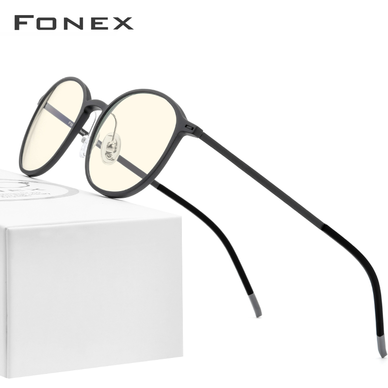 FONEX TR90 Anti Blue Light Glasses Men Goggles Eyewear Eyeglasses Spectacles Antiblue Gaming Computer Glasses For Women AB02