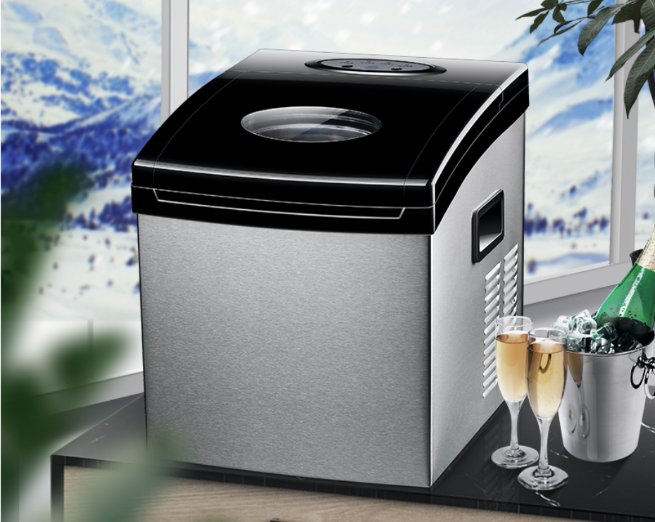 25kg Mini Automatic Electric Ice Machine / Portable Bullet Round Ice Making Machine Small Bar Cafe 220V