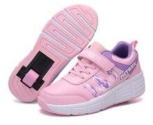 EUR 31 42 ילדי Junior רולר סקייט נעלי ילדים סניקרס עם אחד/שני 2020 בני בנות נעלי גלגלים למבוגרים מזדמנים נערי נעליים