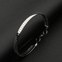 Bracelet en argent femmes bracelet à breloques en acier inoxydable chaîne sur la main cadeau pour accessoires féminins bracelet de mode en gros 2019