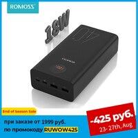 ROMOSS-Cargador portátil de 40000mAh, batería portátil de 18W, PD, QC 3.0, 2C con carga rápida, batería externa tipo C, cargador para iPhone Xiaomi, Romoss Zeus
