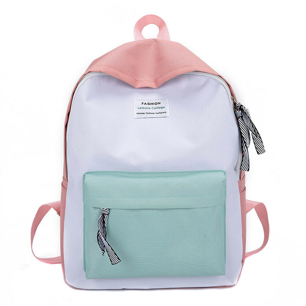 New Casual Canvas Women's Backpack Fashion Solid School Bag Outdoor Travel Portable Shoulder Bag