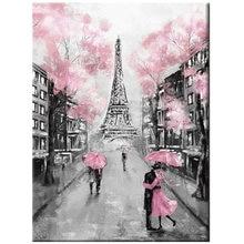 Алмазная живопись 5d «сделай сам» Розовый Зонт дождевой день