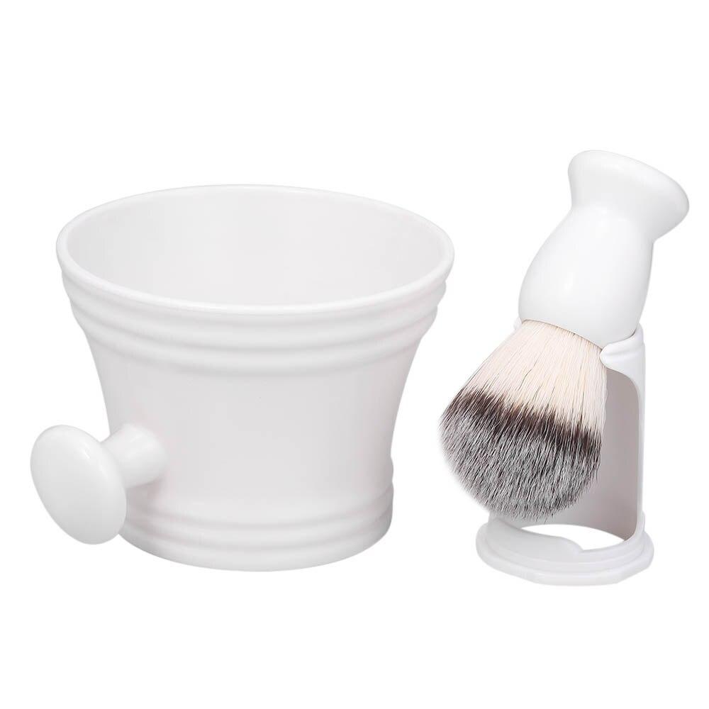 New Arrival White Shaving Kit For Men's Wet Shaving Brush Holder Stand Soap Bowl Mug Hair Beard Brush