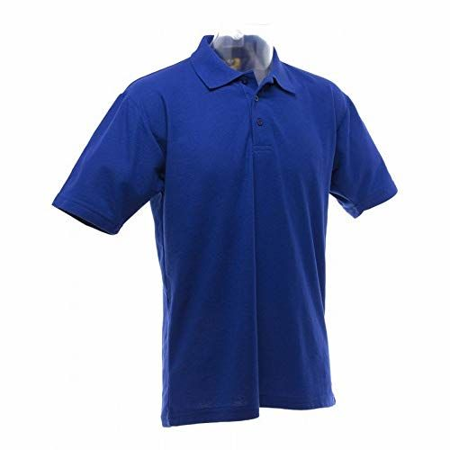 UCC 50/50 Mens Plain Piqué Short Sleeve Polo Shirt (S) (Royal)