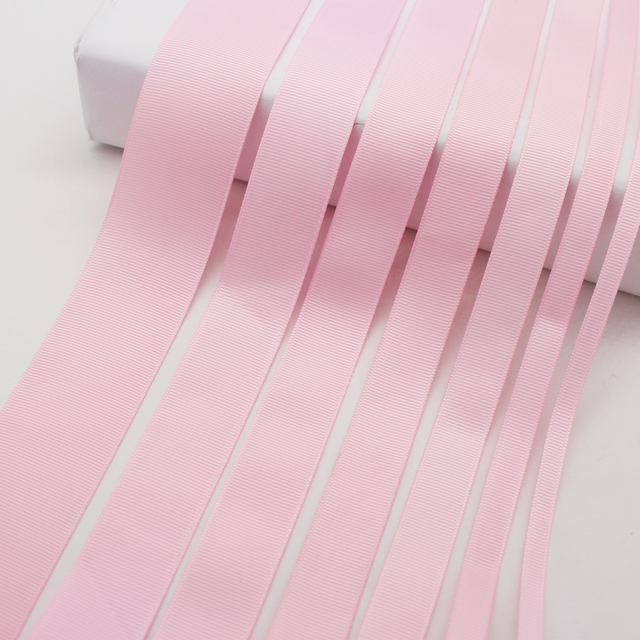 elastic satin ribbon 5cm pink dots