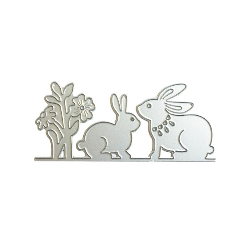 Easter Rabbit Cutting Dies Stencil  Scrapbooking Photo Album Decor Embossing