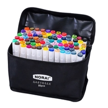 Dual Headed 80 Colors Markers Animation Sketch Pens Drawing Marker Coloring Draw D08A