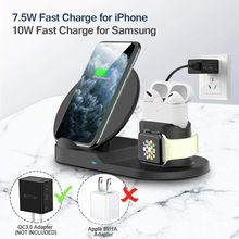 Dock-Station Airpods-Pro Wireless-Charger Fast-Charging Apple iPhone 12 3-In-1 for SE