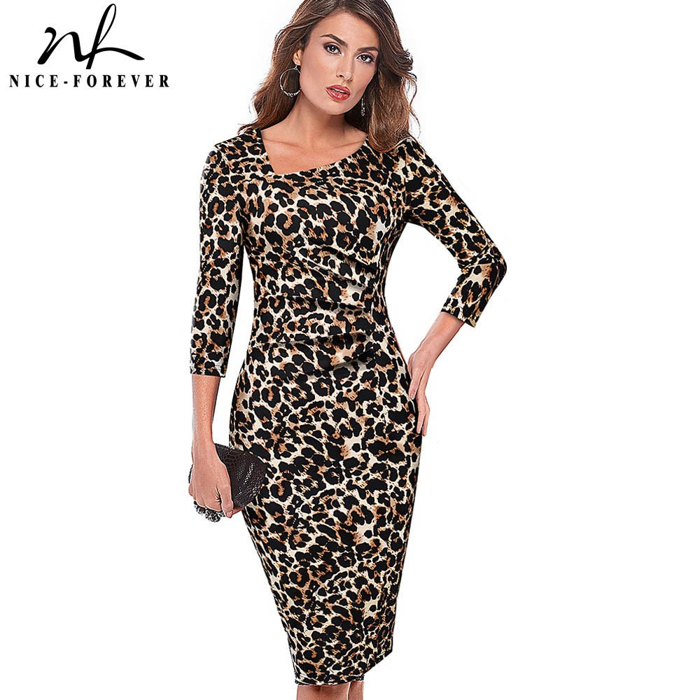Хорошее forever элегантное винтажное печатное офисное платье vestidos деловые вечерние облегающее женское платье карандаш B565|Платья|   | АлиЭкспресс