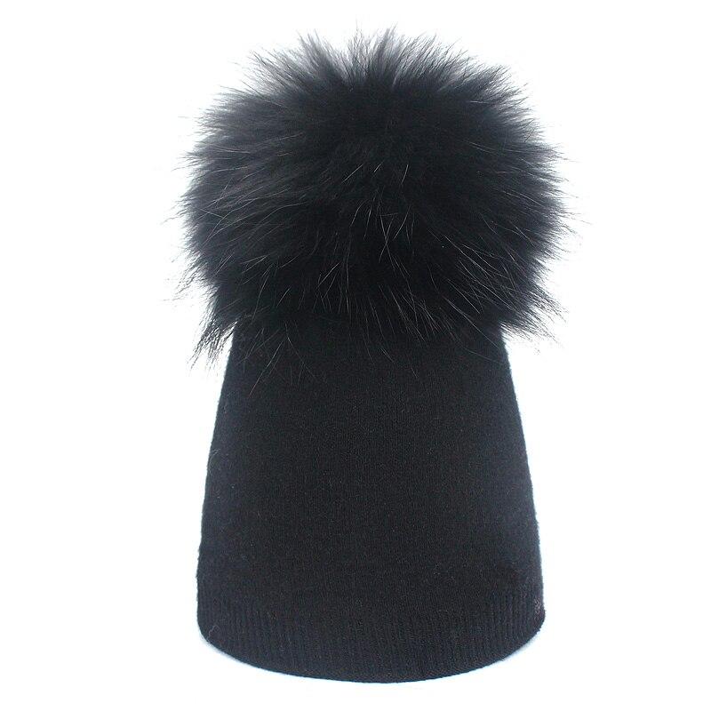 Детская шапка, вязаная цветная шапка с помпоном, Шапка-бини с меховым помпоном, зимняя шапка для мальчиков и девочек, теплая мягкая шапка Skullies Bone для детей - Цвет: B