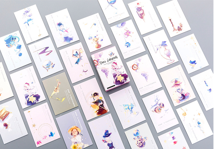 L191- Magic Girl Paper Lomo Cards(1pack=28pieces)