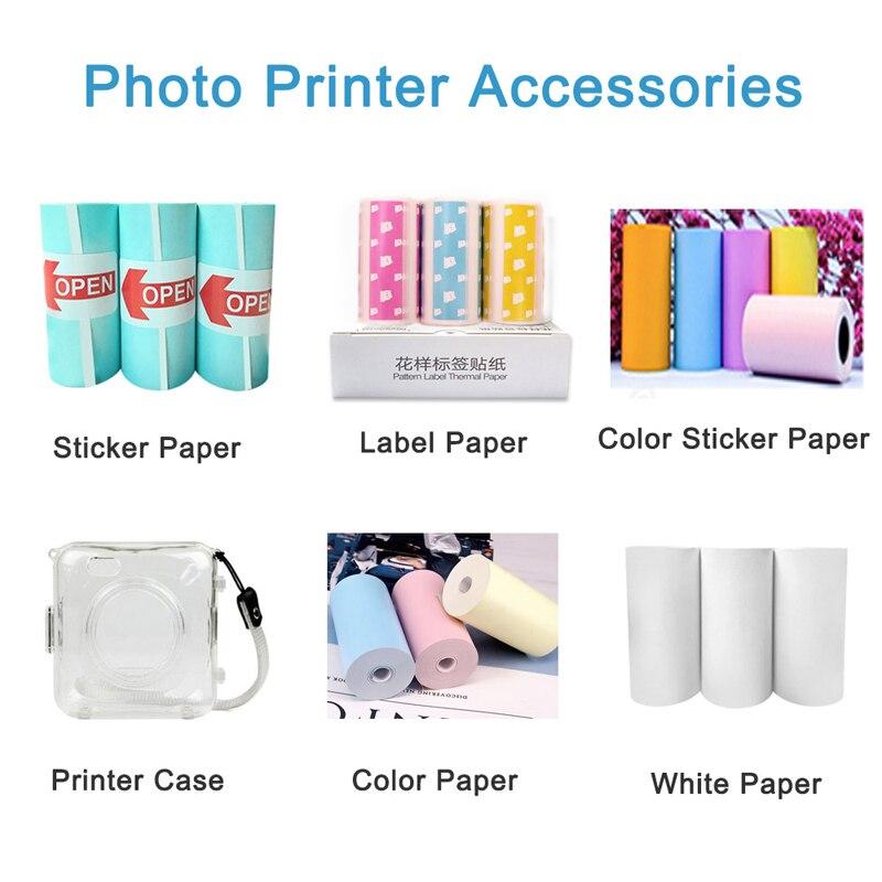 Термальность Бумага этикетка бумажный стикер Бумага для PeriPage Бумага, которые только начинают фотопринтер