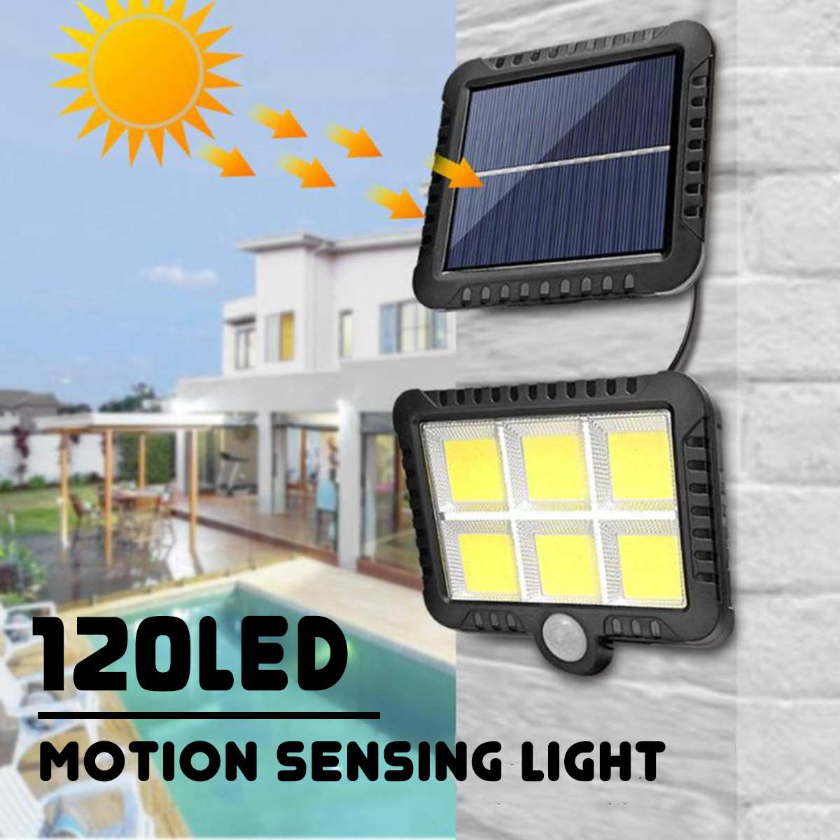 120 LED Solar Light Motion Sensor Wall Light Outdoor Waterproof Garden Lamp Solar Lamp Sunlight Street Lamp Garden Decoration