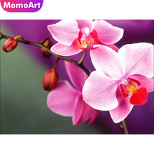 MomoArt 5d Diamond Painting Flowers DIY Embroidery Landscape Full Drill Square Mosaic Home Decoration
