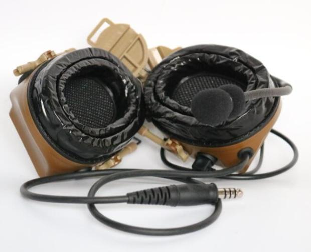 Image 2 - TAC SKY COMTAC III helmet fast track bracket version single side silicone earmuff version noise reduction pickup earphone CBEar Protector   -