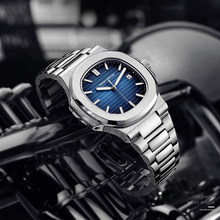 Didun marca de luxo relógios de quartzo homens aço inoxidável militar relógio banda de luxo causal moda relógio masculino