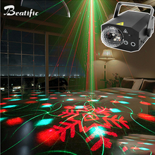 Disco Magic Ball Party Lights RGB LED Music Center Laser Projector Sound active 16in1 Stage Effect Home Wedding Night Equipment