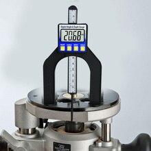 Цифровой дисплей датчик высоты электронный измеритель глубины линейка; Деревообработка измерительные инструменты 0-80 мм Диапазон