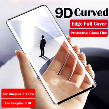 9D Curved Edge Full Cover For Oneplus 7 Pro Case Tempered Glass Screen Protector One plus 6 6T Protective Film