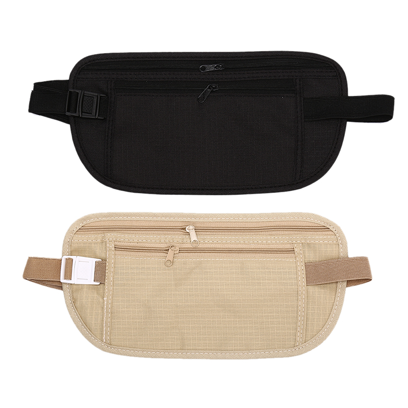 Ultra-thin Hidden Pockets Waist Bag Outdoor Waist Pouch For Passport Money Belt Bag Hidden Security Travel Wallet Gifts