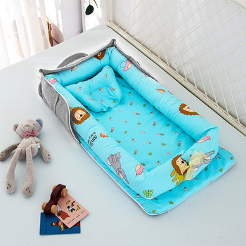 cradle Baby nest Kid's bed transformer crib cradle for baby cocoon for sleep nest for baby Portable crib luxury pine solid wood logs baby crib adjustable 3 in 1 stitching multifunctional storage cradle baby bed with guardrail for kid