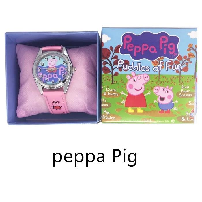 Peppa Pig New Sport Watch Children Wristwatch Kids For Girls Boys Student Watch Wrist Clock Electronic Child Cartoon Gift Toys