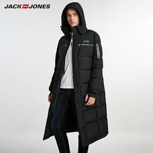 Image 3 - JackJones Mens Winter Long Hooded Duck Down Jacket Parka Coat Fashion Outerwear for Menswear 218312516