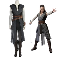 New Star Wars The Last Jedi Costumes Rey Cosplay Cosplay Costume Outfit Carnival Halloween Party Costumes for Women S XL